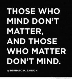 those who matter