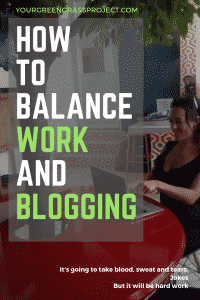 How to balance work and blogging. 1