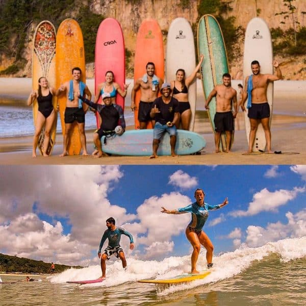 Learn to surf in praia da pipa, brazil